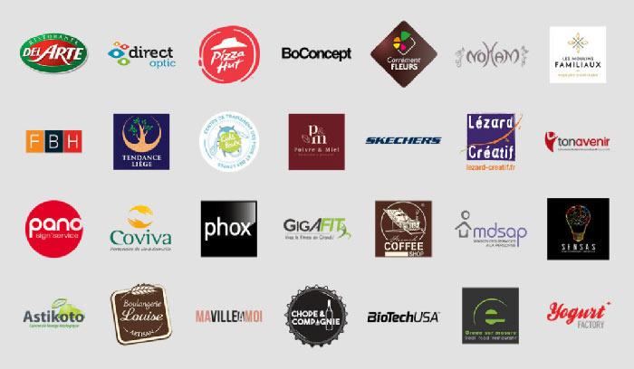 Logos des entreprises clientes d'ST Developments