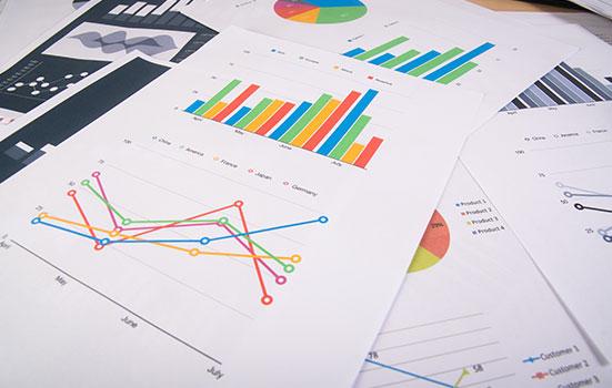 Des pages remplies de graphiques et d'analyses statistiques